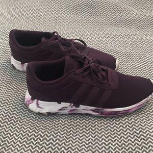 Adidas Ladies burgundy sneaker. Size 8
